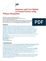 Integrated Maintenance and Cost Optimisation Of