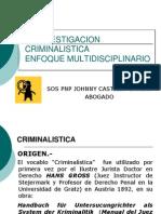 La Investigacion Criminalistica
