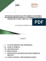 ESTRATEGIA DE RESTAURACIÓN FORESTAL SOSTENIBLE  DEL BOSQUE RESERVADO DE LA UNIVERSIDAD NACIONAL AGRARIA DE LA SELVA  (BRUNAS) - TINGO MARIA