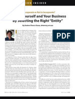 Select the Right ENTITY for Your Business - DeeAnn Flores Chase