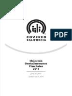 Covered California Children's Dental Plan Rates