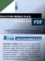 Portafolio de Servicios Solution World S.A.S Abogados Power Point