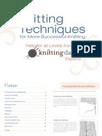 Knitting-Techniques:Short Row Turn