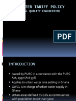 Urban Water Tariff ghana