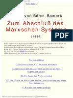 Boehm-bawerk_zum Abschluss Des Marxschen Systems_1896