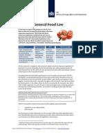 2012 EU Legislation General Food Law