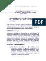 Department Order No. 19-93, April 1, 1993
