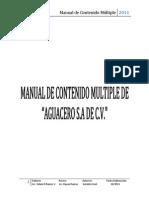 Manual de Contenido Multiple AGUACERO S.a