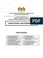 Modul Perfect Score SBP Add Math SPM 2013 Question and Scheme