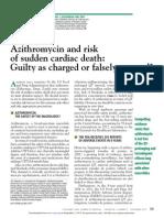 Azitromizina y Muerte Cardiaca Subita
