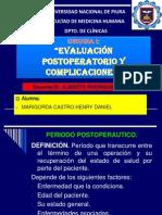 evalucación postoperatorio y complicaciones