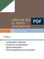 T. Descriptivo