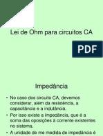 Lei de Ohm Para Circuitos CA