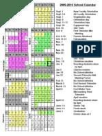 2009-2010 Trimester Calendar Complete