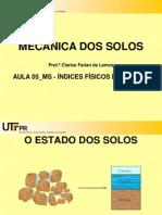Aula 05 Ms Indices Fisicos Dos Solos