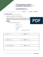 GUIA 17 Ecuaciones Fraccionarias