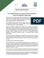 Nota de Prensa Nº 01 - 2012