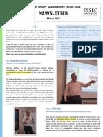 Newsletter Sustainability Forum 2013