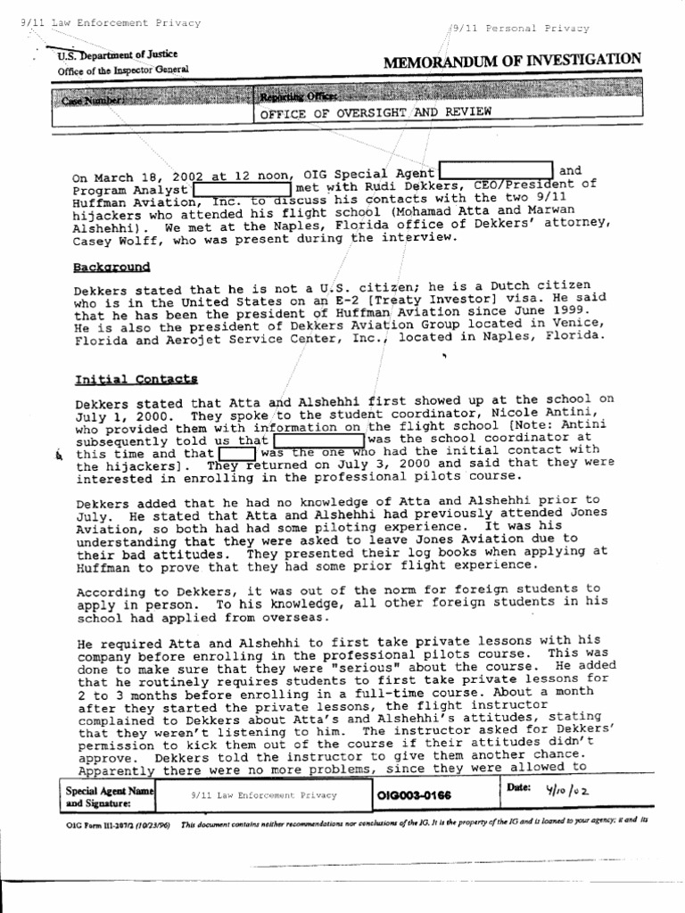 T5 B46 Footnote Materials 3 Of 3 Fdr 3 18 02 Doj Oig Interview