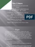 lEGAL MEDICINE Sex Crimes