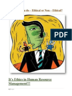 Ethics in Human Resource Management