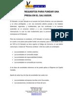 Pasos y Requisitos Para Fundar Una Empresa en El Salvador