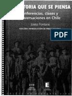 """""""La historia que se piensa""""- Conferencias, clases y conversaciones de Josep Fontana en Chile."""