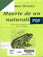 Seamus Heaney, Muerte de un naturalist