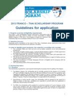 Franco-Thai Scholarship Rulebook 2013