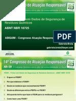 FDSR – Ficha com Dados de Segurança de Resíduos Químicos