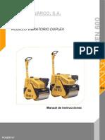 Manual de Rodillo Hidraulico