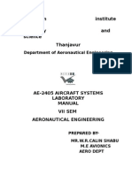 Ae-2405 Aircraft Systems Laboratory