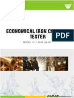 Economical Iron Content Tester