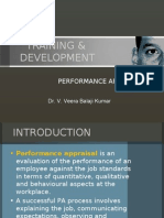 training & development - performance appraisal