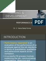 training & development - performance appraisal