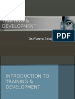 training & development - introduction