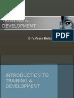 training & development - introduction