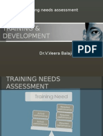 training & development - needs assessment