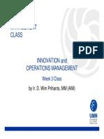 2011 Innovation & Operations Management
