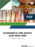 Economical Per Acetic Acid Analyzer