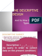 The Descriptive Designscfs