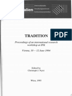 Notes Towards a Theory of Traditions