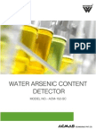 Water Arsenic Content Detector