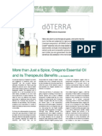 OREGANO ESSENTIAL OIL INFORMATION SHEET