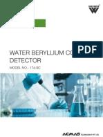 Water Beryllium Content Detector