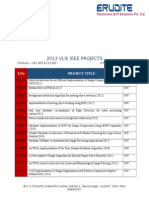 Mtech VLSI Project List 2013