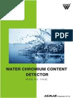 Water Chromium Content Detector
