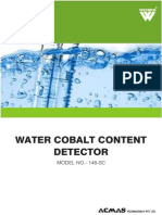 Water Cobalt Content Detector