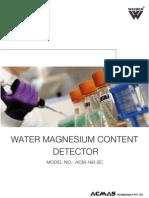 Water Magnesium Content Detector