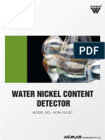 Water Nickel Content Detector